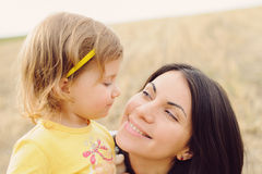 Smiling Mother and Daughter Royalty Free Stock Image