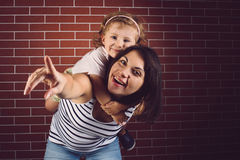 Smiling Mother and Daughter Stock Photos
