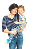 Smiling mother and her son Royalty Free Stock Photography