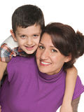 Smiling mother with her son Stock Photo