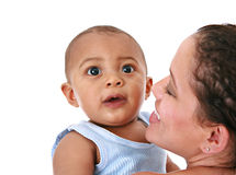 Smiling Mother Holding Baby Royalty Free Stock Photography