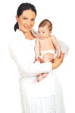 Smiling mother with newborn baby Royalty Free Stock Photos