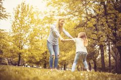 Happiness and play at park. royalty free stock photo