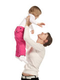 Smiling mother playing with little daughter Royalty Free Stock Photos