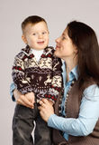 Smiling mother with son Royalty Free Stock Photo