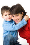 Smiling mother and son Stock Images