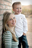 Smiling Mother and Son Royalty Free Stock Photos