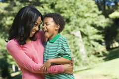 Smiling mother and son. Royalty Free Stock Images