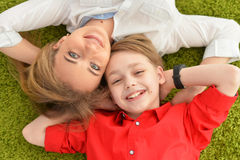 Smiling mother and son Royalty Free Stock Images