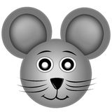Smiling mouse. Illustration of a smiling mouse with very big ears isolated over white vector illustration