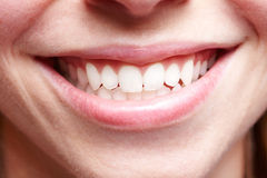 Smiling mouth Stock Image