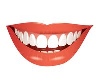 Smiling mouth isolated illustration Stock Photos