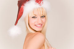 Smiling mrs. Santa Stock Image