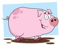 Smiling muddy piggy Royalty Free Stock Photo
