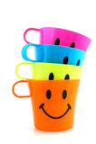Smiling mugs Royalty Free Stock Photo