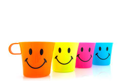 Smiling mugs Royalty Free Stock Images