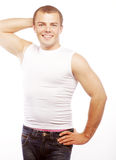 Smiling muscular caucasian man Stock Image
