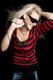 Smiling Music Girl Stock Images