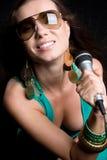 Smiling Music Woman Stock Image