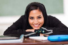 Muslim female student Royalty Free Stock Photography