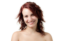 Smiling Naked Woman Royalty Free Stock Photo