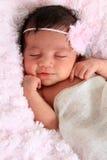 Smiling newborn baby stock photo