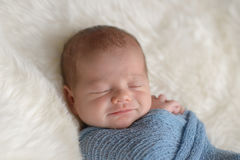 Smiling Newborn Baby Boy Royalty Free Stock Photos