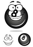 Smiling number 8 billiard ball Royalty Free Stock Photo
