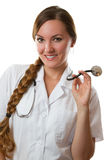 Smiling nurse with stethoscope Royalty Free Stock Photo