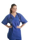 Smiling nurse woman with stethoscope Royalty Free Stock Image