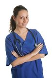 Smiling nurse woman with stethoscope Royalty Free Stock Images