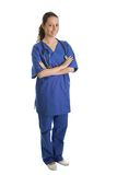 Smiling nurse woman with stethoscope Stock Photography