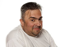 Smiling obese man Stock Photos
