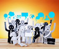 Smiling object for symbol of business social network Stock Image