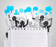 Smiling object for symbol of business social network Stock Photography