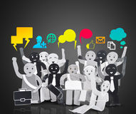 Smiling object for symbol of business social network Stock Photo