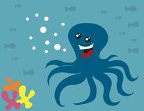 Smiling Octopus Royalty Free Stock Photos