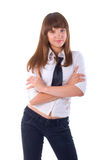 Smiling Office Girl. Stock Photos