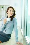 Smiling office girl Stock Image