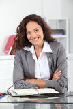 Smiling office worker Royalty Free Stock Photo