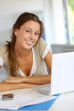 Smiling office-worker Royalty Free Stock Photos