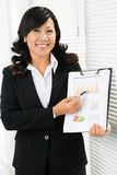 Smiling office worker Royalty Free Stock Photos