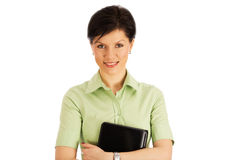 Smiling office worker over white Royalty Free Stock Photo