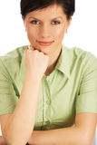 Smiling office worker over white Royalty Free Stock Photography