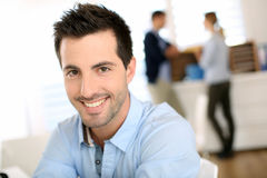 Smiling office-worker Royalty Free Stock Image