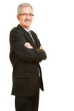 Smiling old businessman Royalty Free Stock Photos