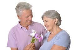 Smiling old couple Stock Image