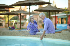 Smiling old couple Stock Photography