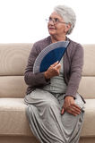 Smiling old lady portrait Stock Images