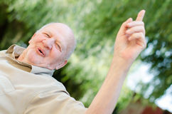 Smiling old man royalty free stock images